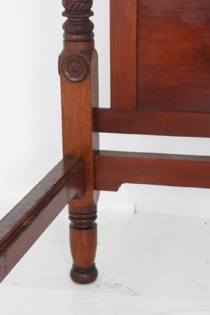 Acanthus Carved Mahogany 4 Poster Tester Bed - 5