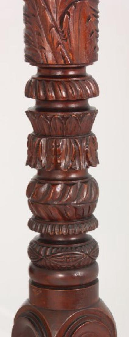 Acanthus Carved Mahogany 4 Poster Tester Bed - 6