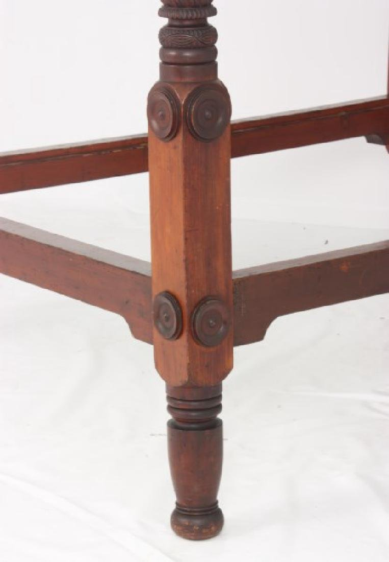 Acanthus Carved Mahogany 4 Poster Tester Bed - 9