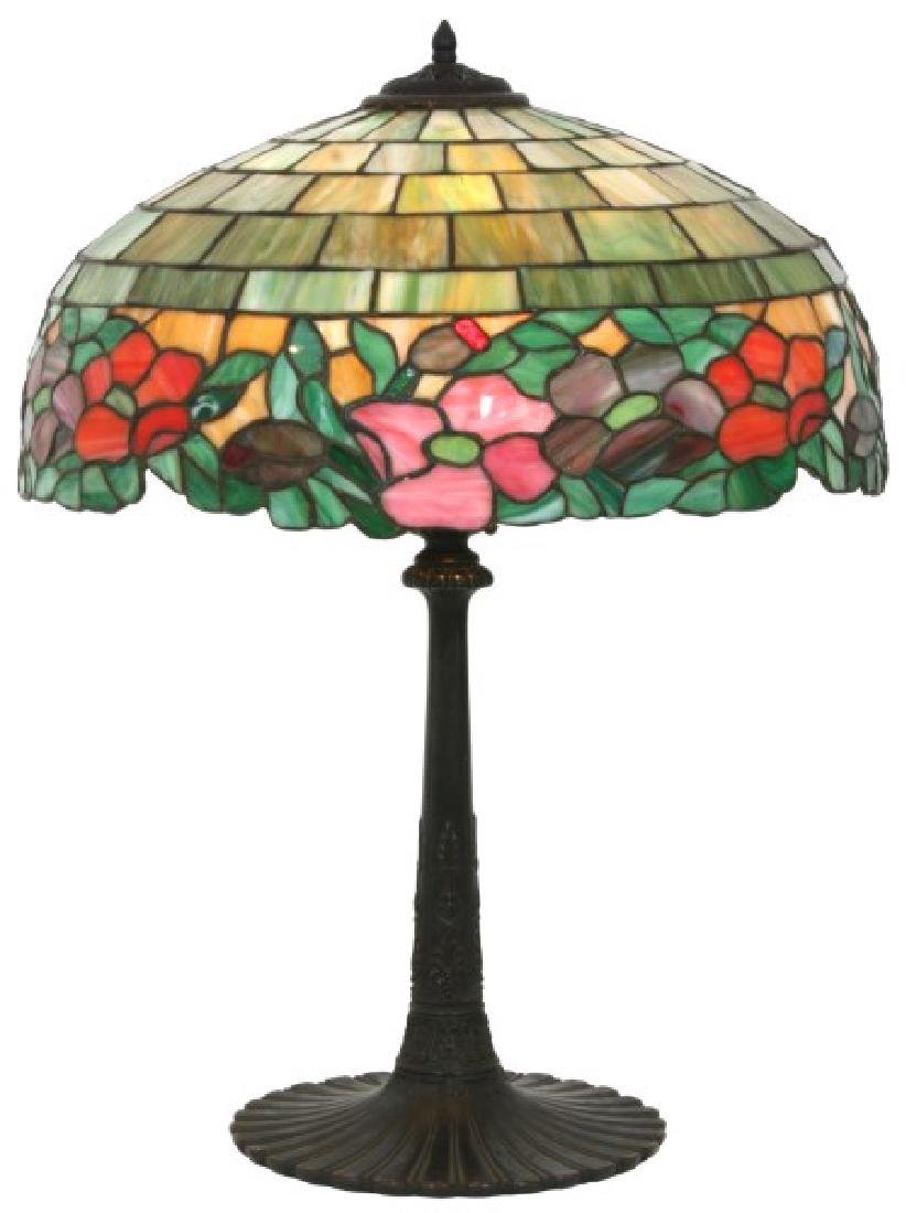 19 in. Wilkinson Leaded Floral Table Lamp