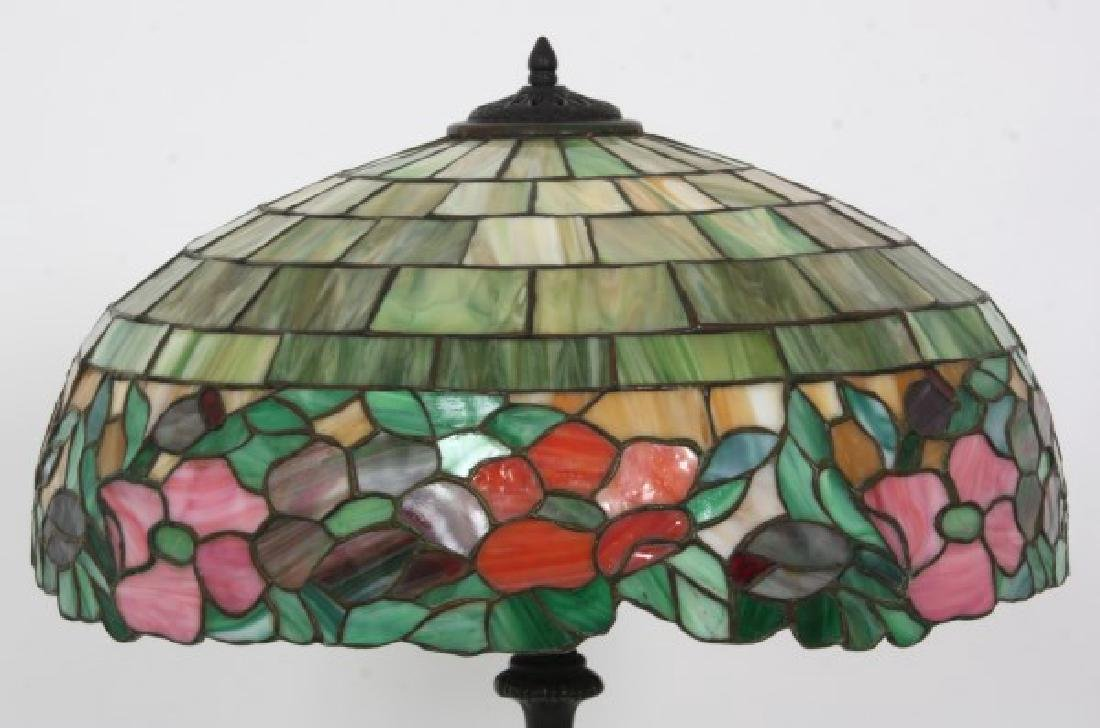 19 in. Wilkinson Leaded Floral Table Lamp - 4