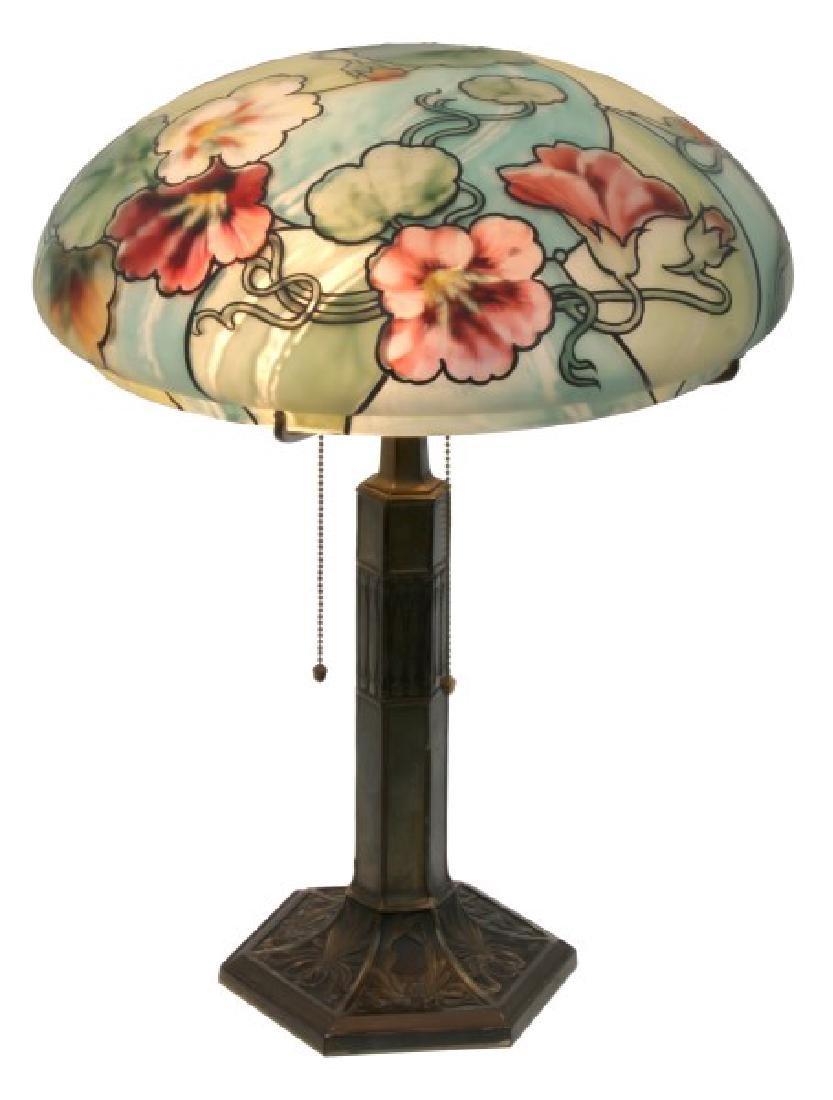 14 in. Pairpoint Nasturtium Table Lamp