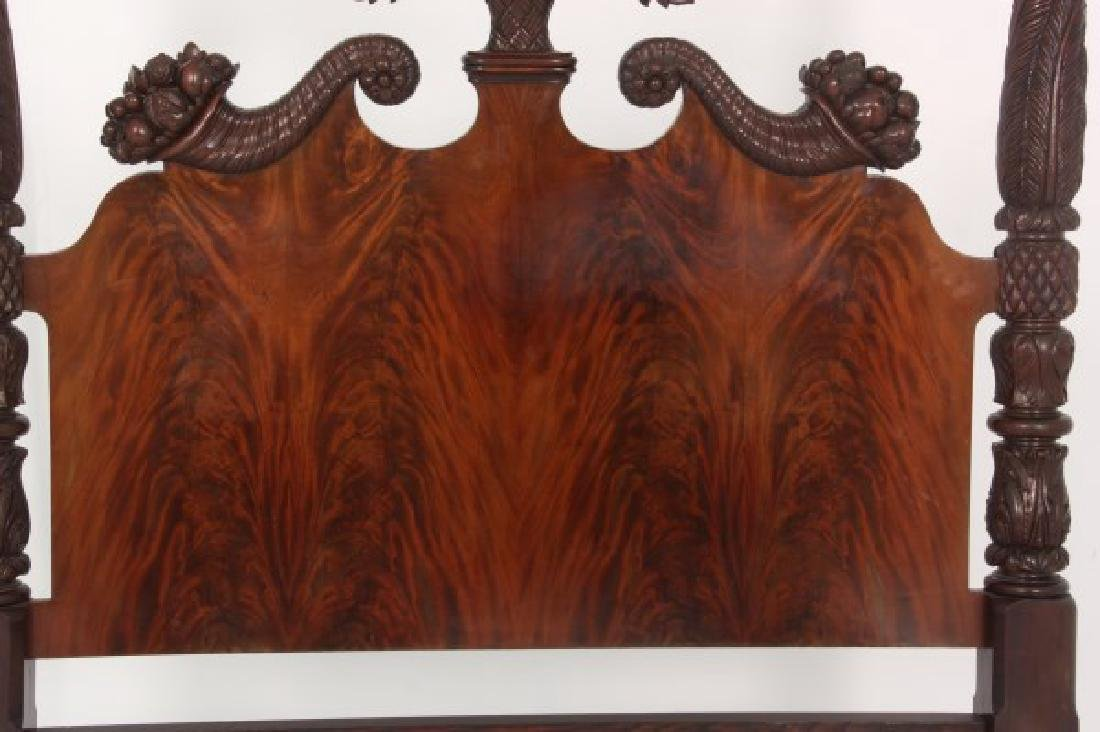 Excellent Acanthus Carved Mahogany 4 Poster Bed - 10
