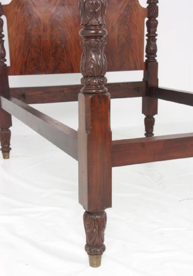 Excellent Acanthus Carved Mahogany 4 Poster Bed - 5