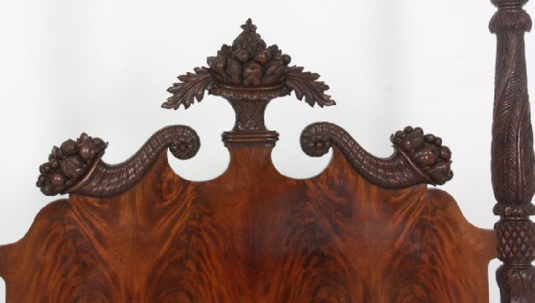 Excellent Acanthus Carved Mahogany 4 Poster Bed - 7