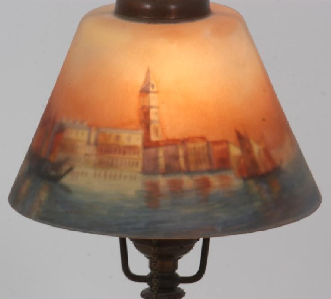 Handel Venetian Harbor Boudoir Lamp - 2