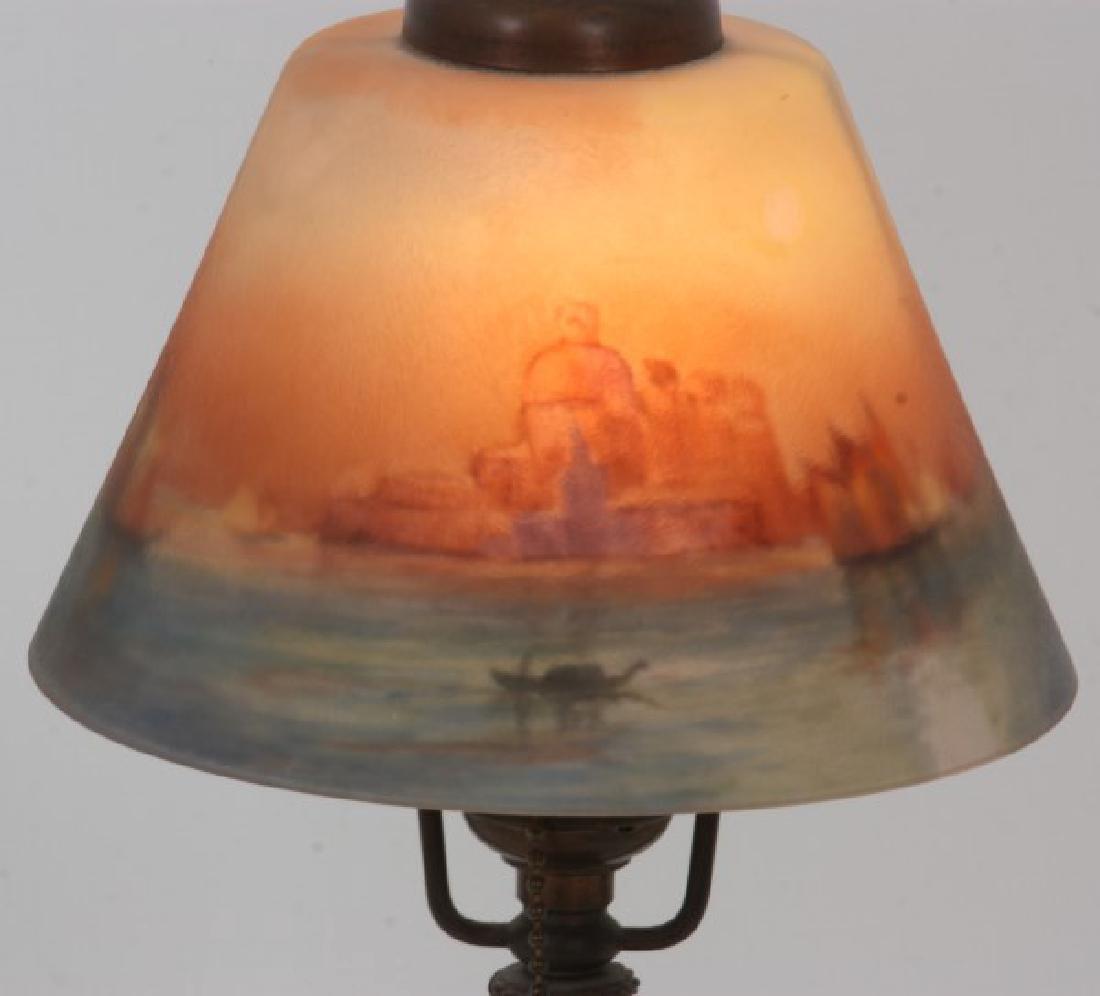 Handel Venetian Harbor Boudoir Lamp - 4