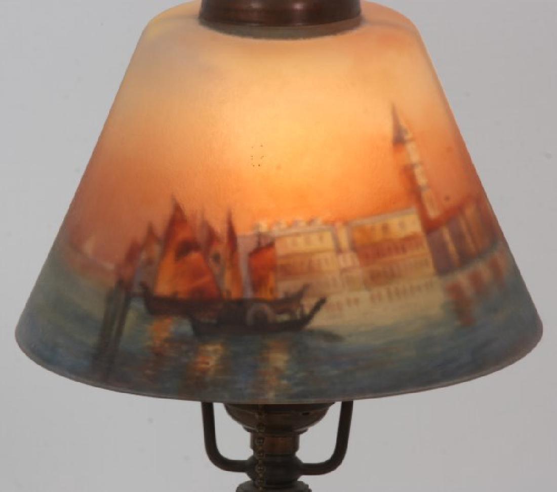Handel Venetian Harbor Boudoir Lamp - 5