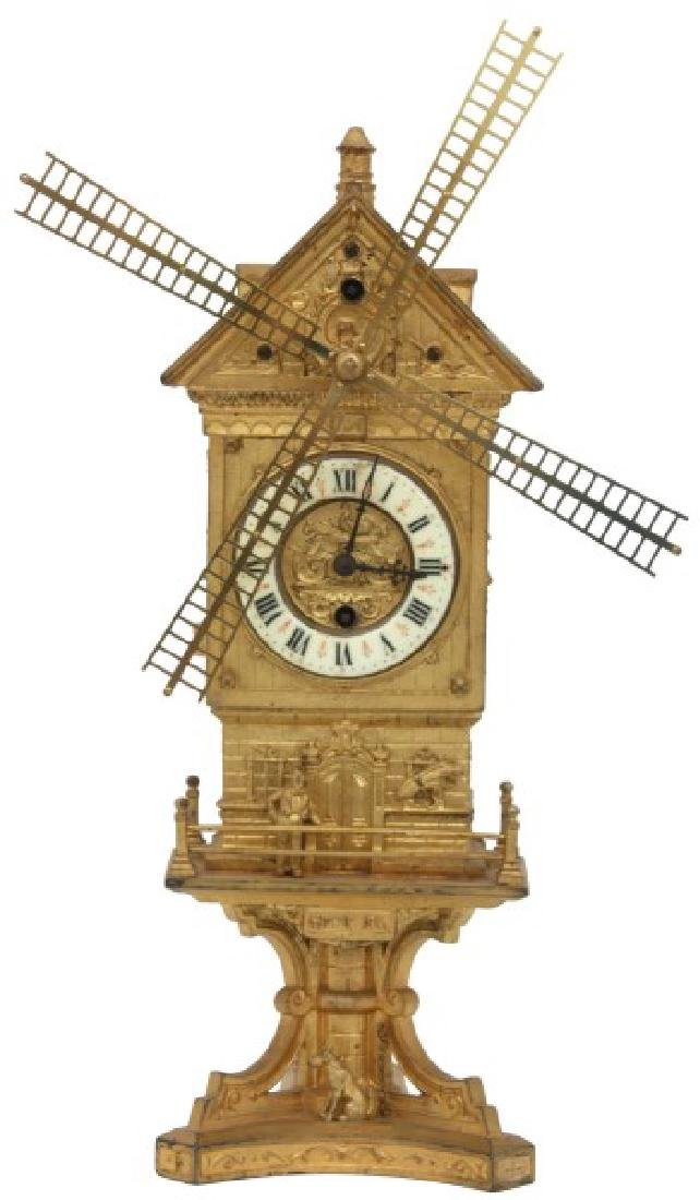 Farcot French Industrial Animated Mantle Clock