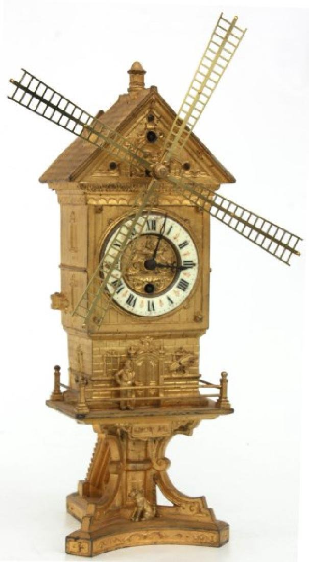 Farcot French Industrial Animated Mantle Clock - 2