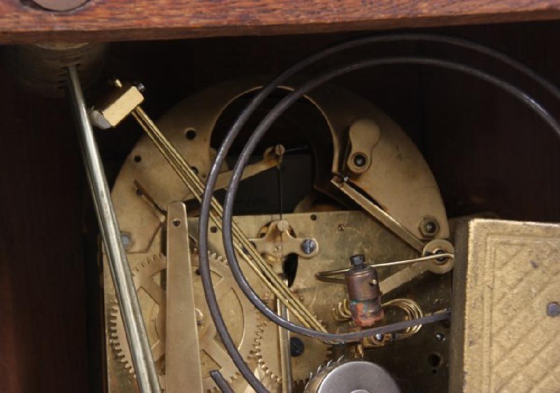 Junghans Carved Oak Westminster Bracket Clock - 10