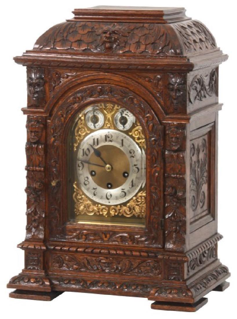 Junghans Carved Oak Westminster Bracket Clock