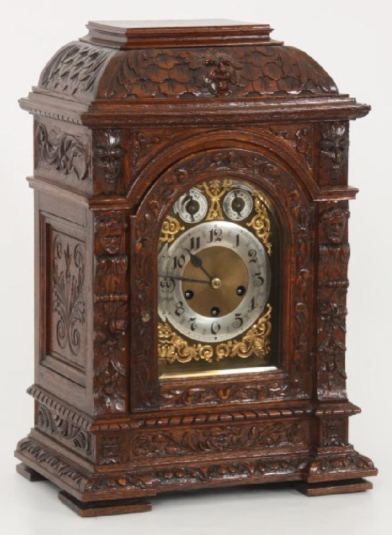 Junghans Carved Oak Westminster Bracket Clock - 2