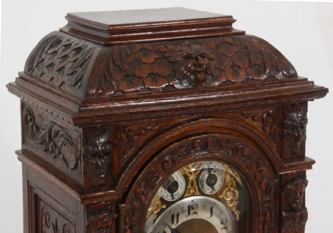 Junghans Carved Oak Westminster Bracket Clock - 3