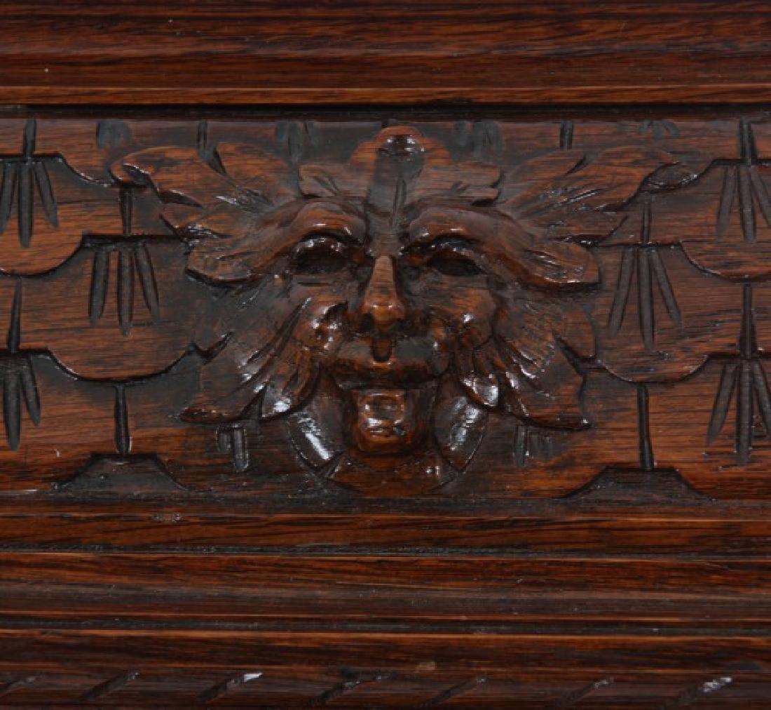 Junghans Carved Oak Westminster Bracket Clock - 4