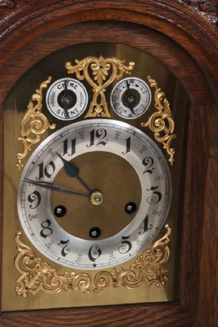 Junghans Carved Oak Westminster Bracket Clock - 5