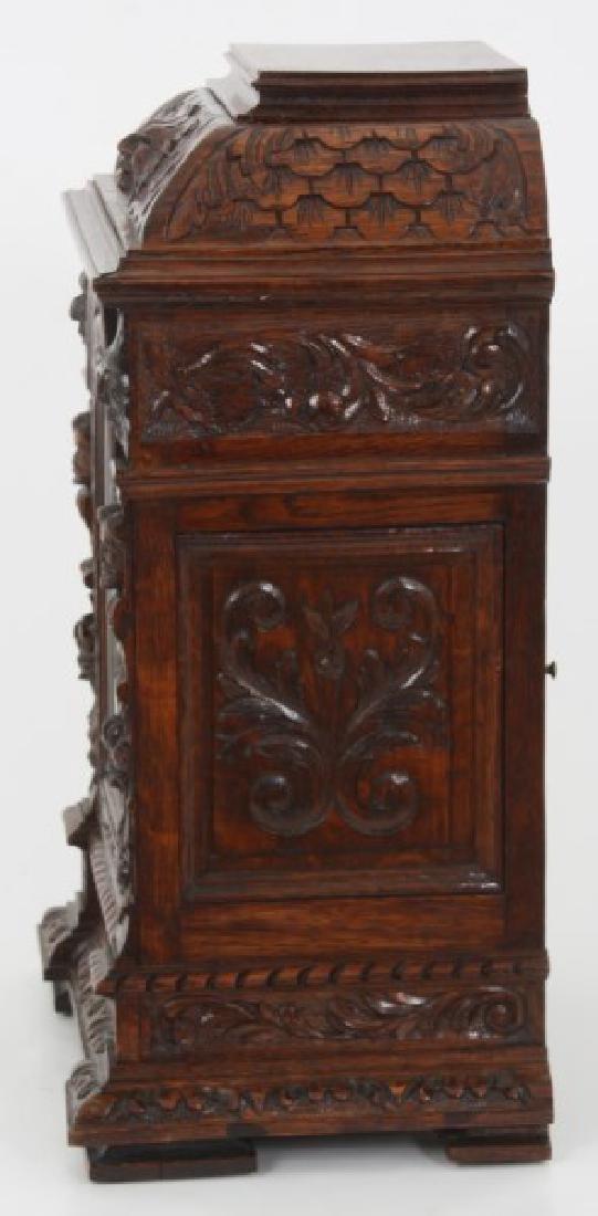 Junghans Carved Oak Westminster Bracket Clock - 6
