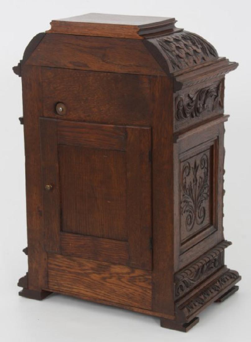 Junghans Carved Oak Westminster Bracket Clock - 7
