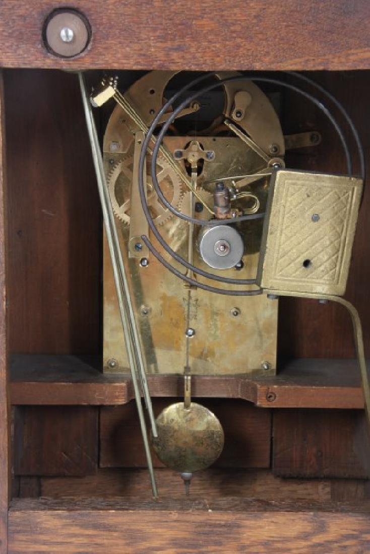 Junghans Carved Oak Westminster Bracket Clock - 8