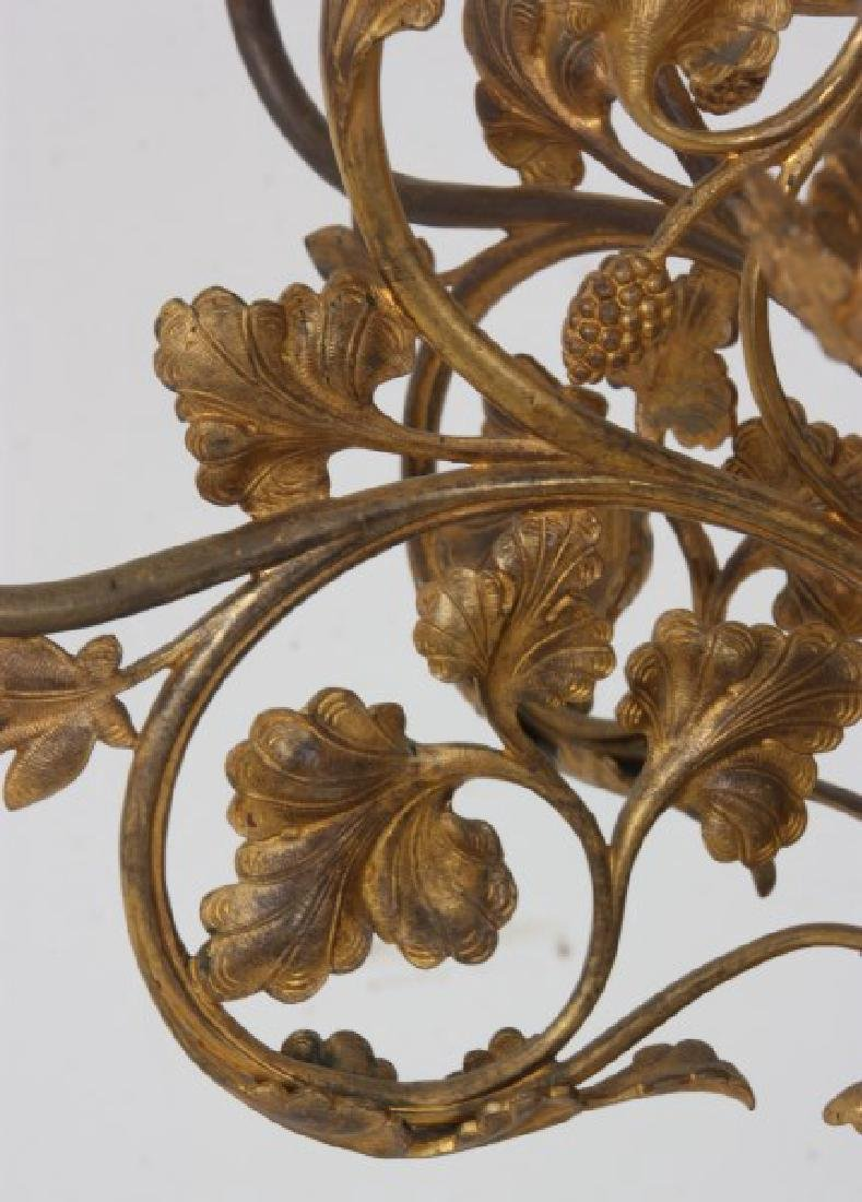 Gothic Gilt Bronze Floor Standing Candleabra - 9