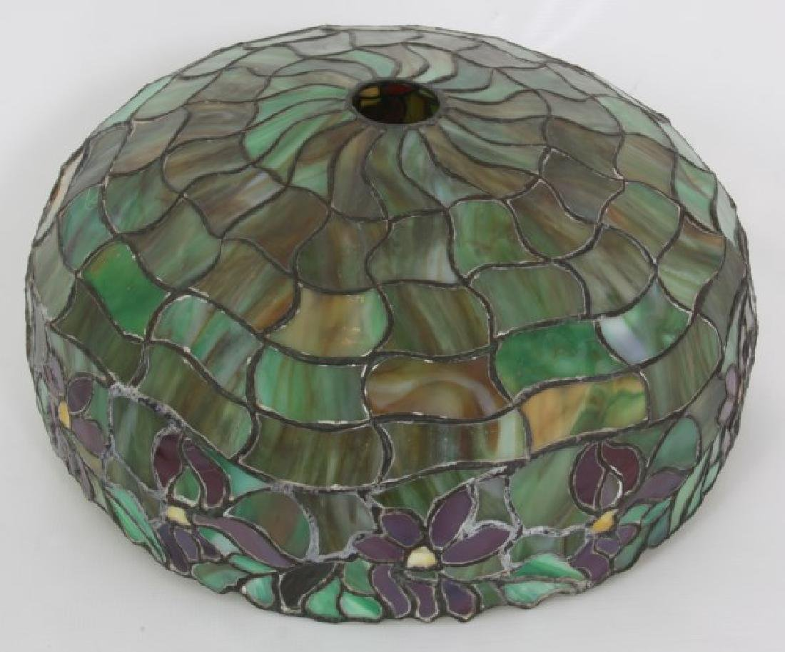 18.5 in. Leaded Poinsettia Table Lamp - 5