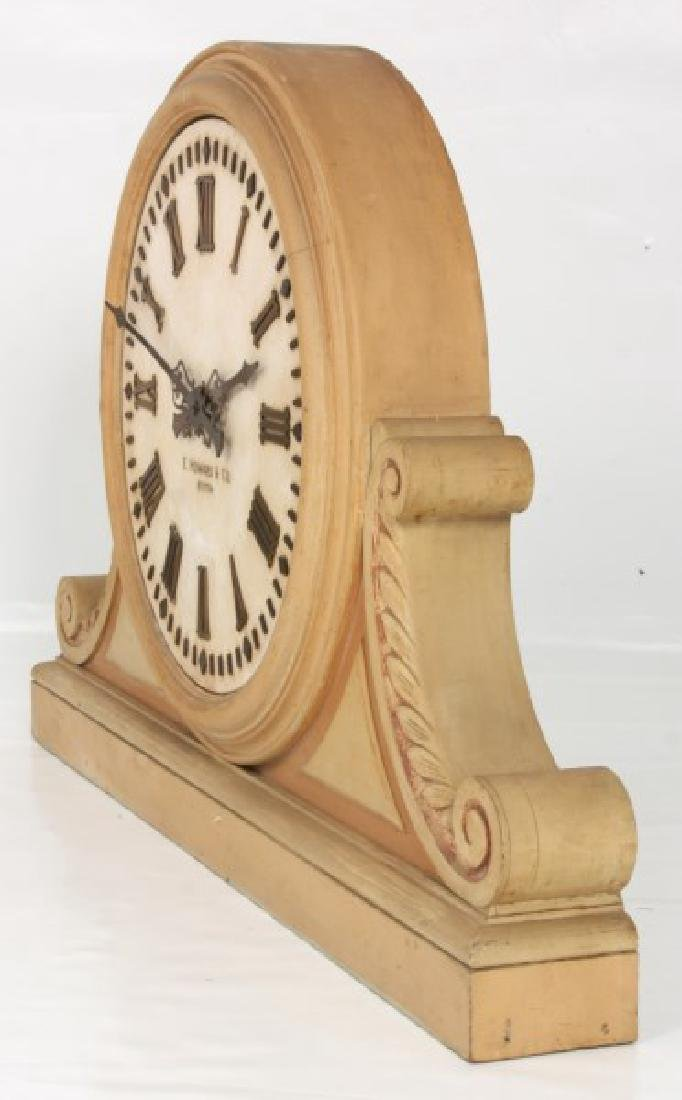 24 in. E. Howard Marble Dial Gallery Clock - 5