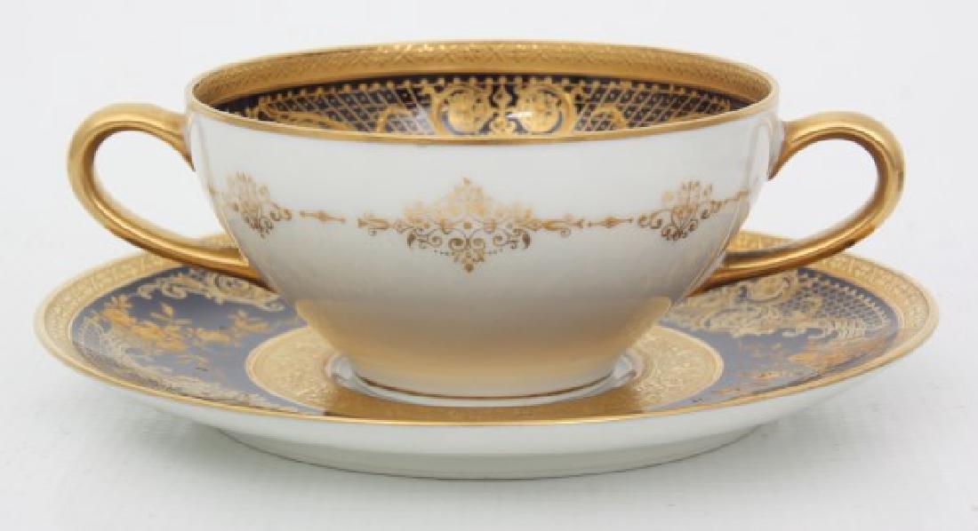 47 Pcs. Limoges Porcelain Tea Set - 8