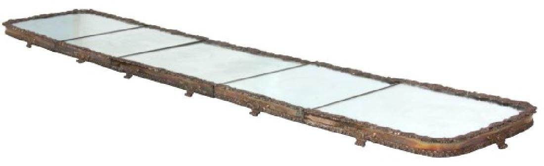 5 Panel 8 Ft. Silver Plated Table Plateau
