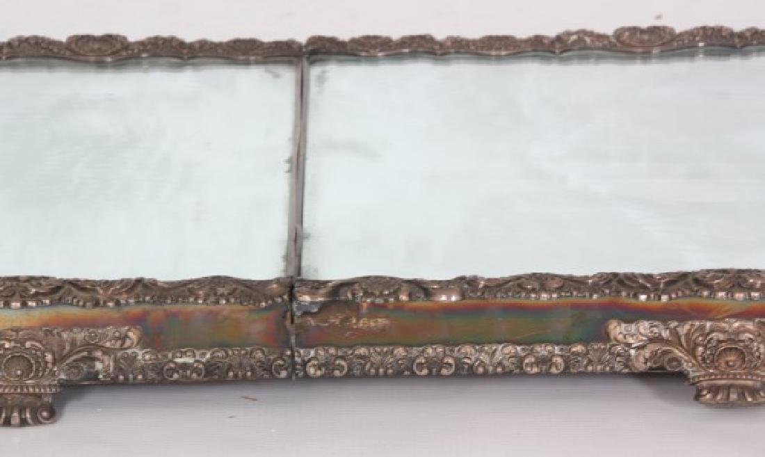 5 Panel 8 Ft. Silver Plated Table Plateau - 4