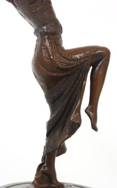 2 Joe Descomps Bronze Figural Dancer Sculpture - 6