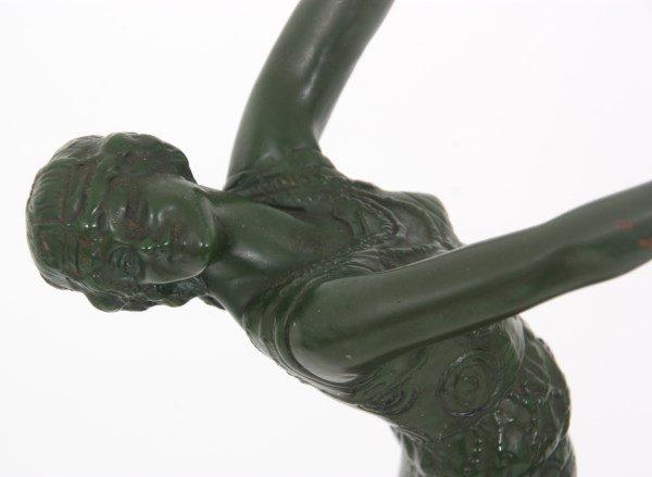 2 Joe Descomps Bronze Figural Dancer Sculpture - 8