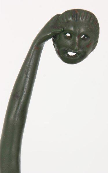 2 Joe Descomps Bronze Figural Dancer Sculpture - 9