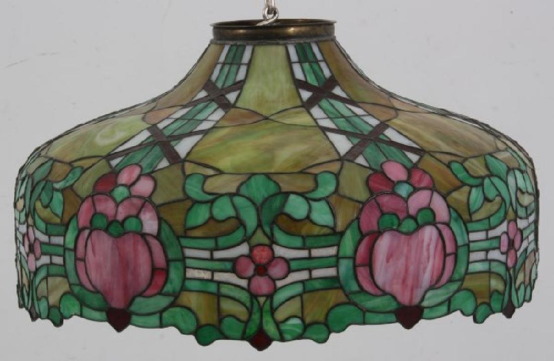 24 in. Leaded Hanging Lamp Shade - 2
