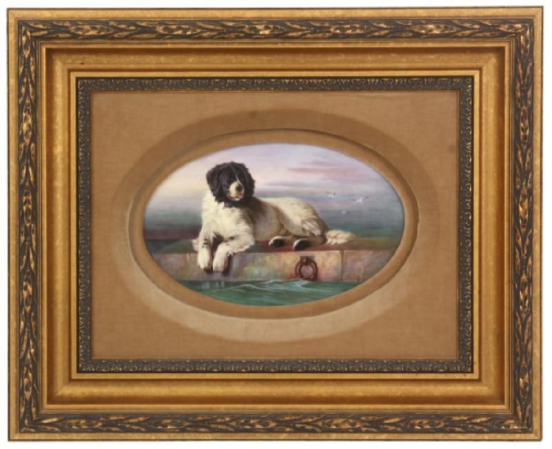J.E. Dean Hand Painted Porcelain Plaque