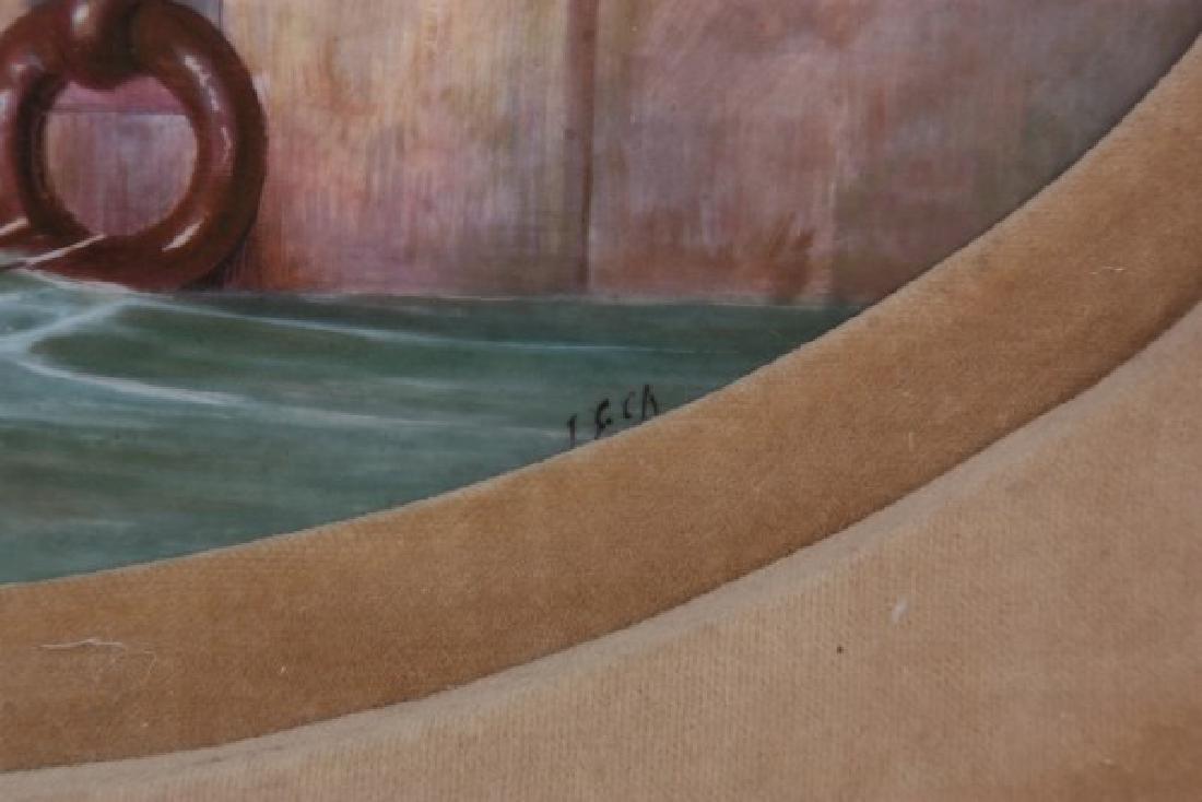 J.E. Dean Hand Painted Porcelain Plaque - 3