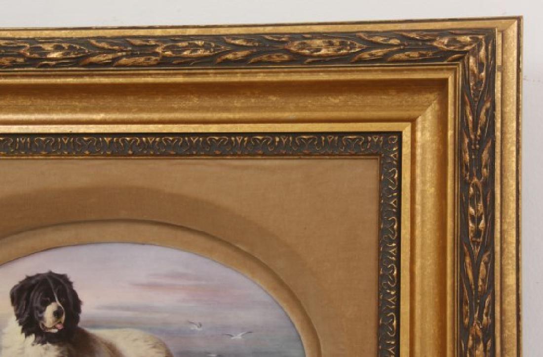 J.E. Dean Hand Painted Porcelain Plaque - 4