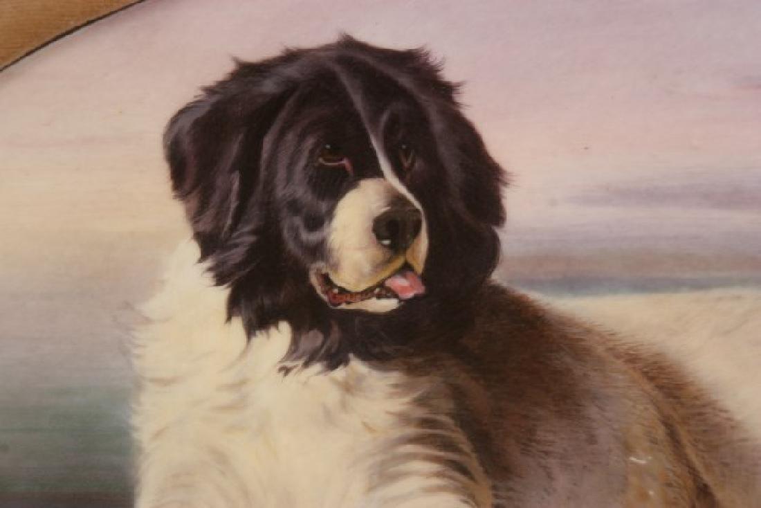 J.E. Dean Hand Painted Porcelain Plaque - 5