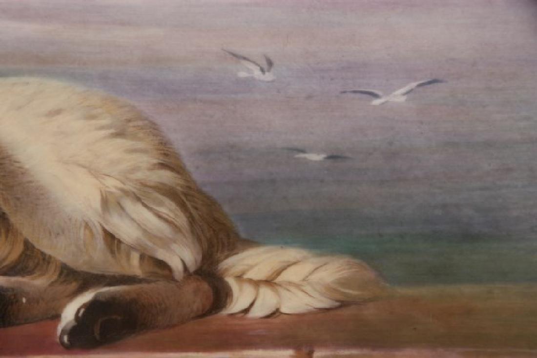 J.E. Dean Hand Painted Porcelain Plaque - 6