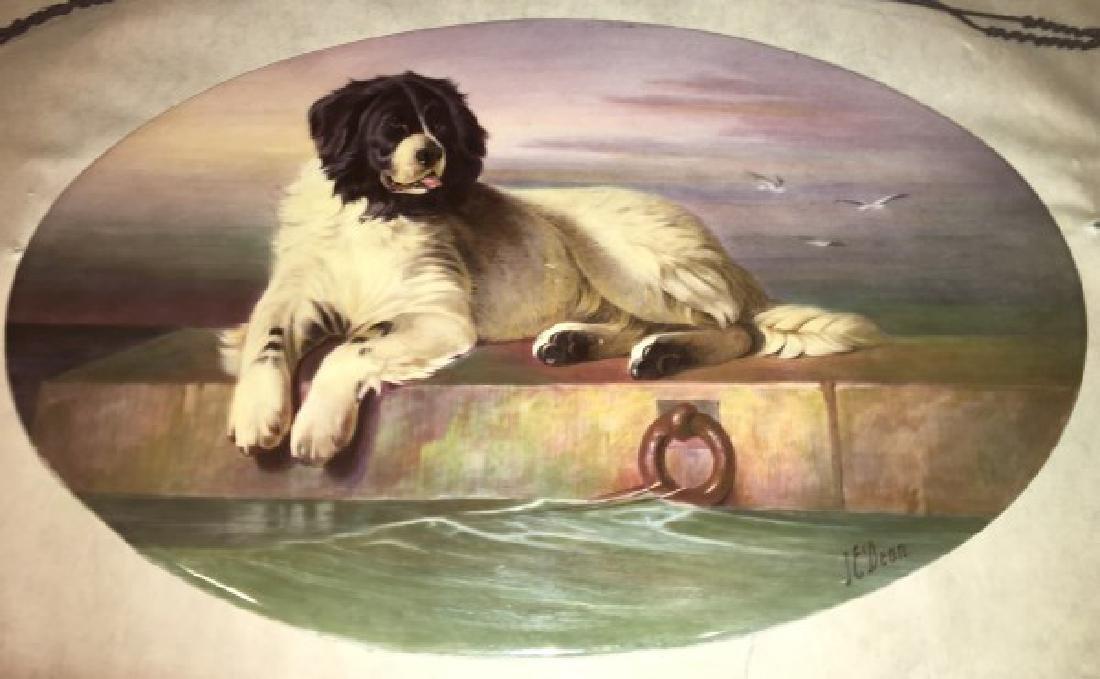 J.E. Dean Hand Painted Porcelain Plaque - 8