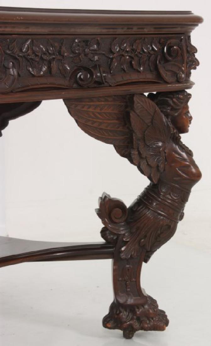 RJ Horner Winged Maiden Mahogany Partners Desk - 4