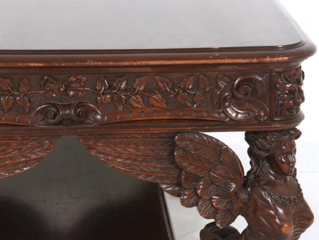 RJ Horner Winged Maiden Mahogany Partners Desk - 8