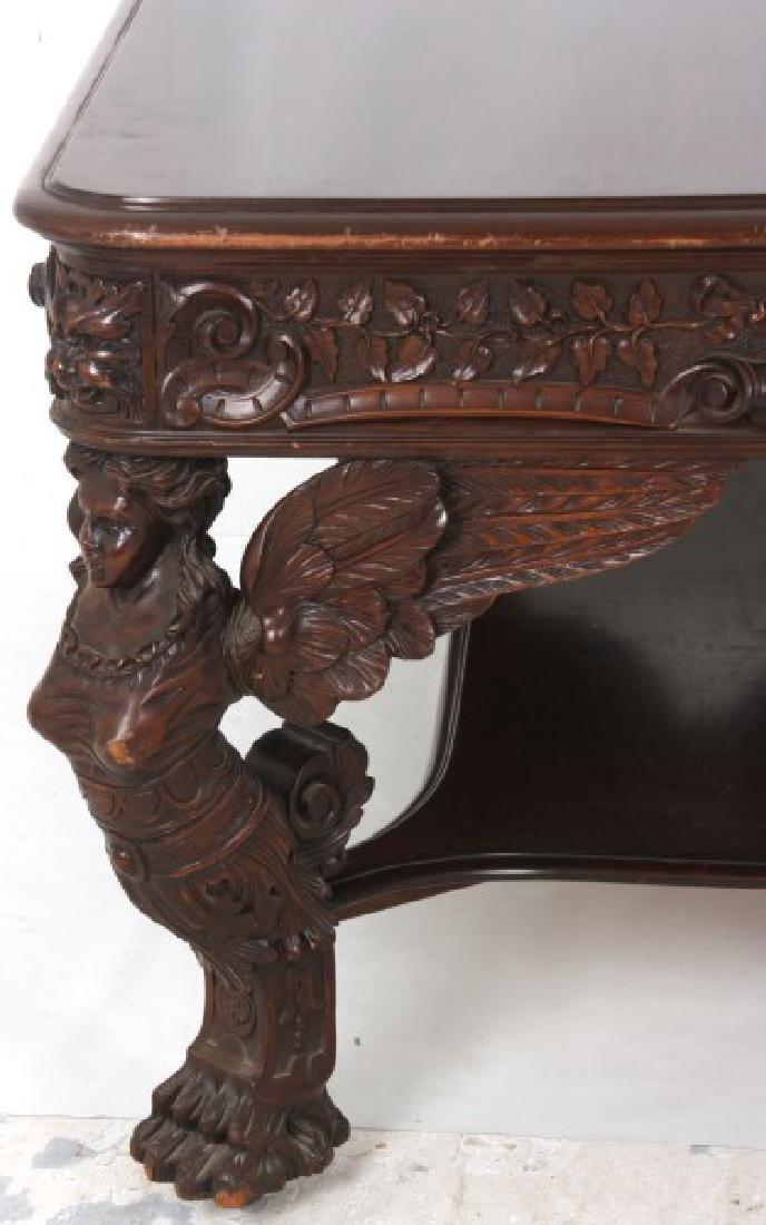 RJ Horner Winged Maiden Mahogany Partners Desk - 9