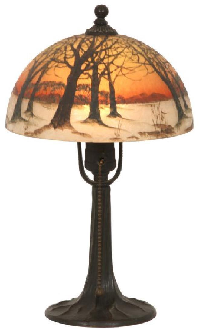 8 in. Jefferson Winter Sunset Boudoir Lamp