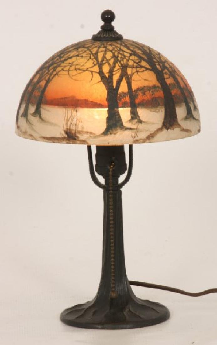 8 in. Jefferson Winter Sunset Boudoir Lamp - 2