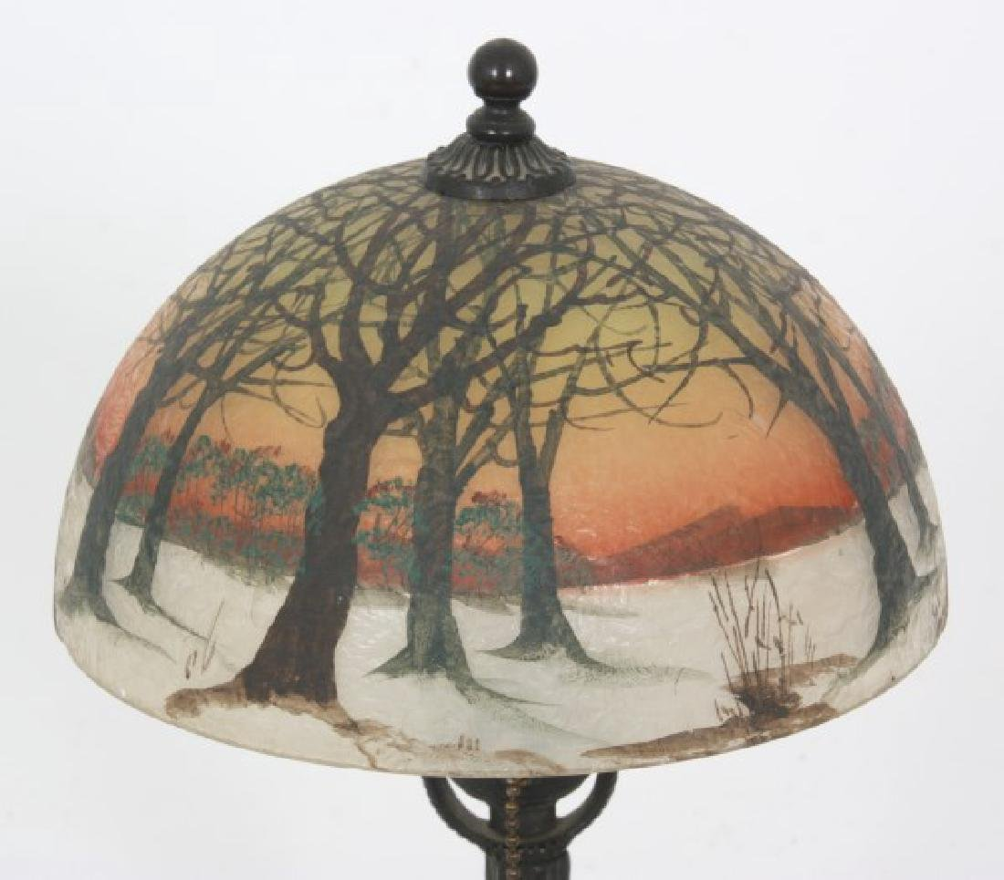 8 in. Jefferson Winter Sunset Boudoir Lamp - 3