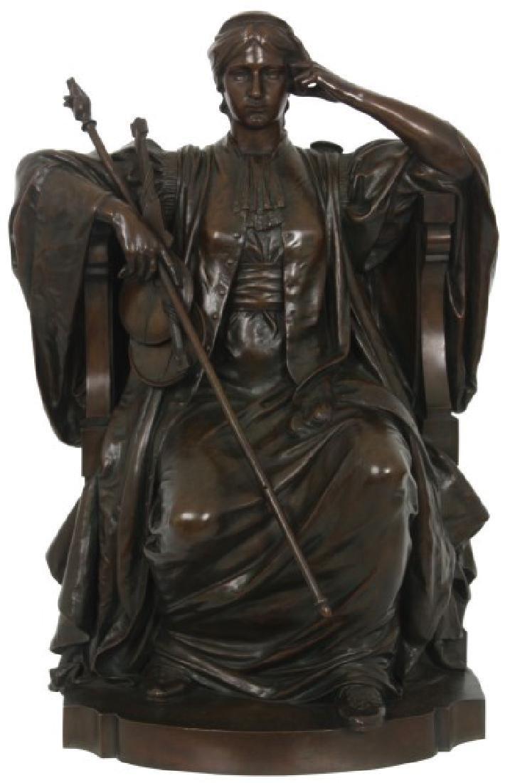 Louis Convers Bronze Sculpture of Justice