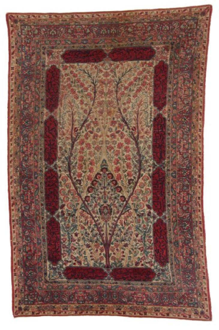 19th Century Hand Woven Antique Kirman Rug