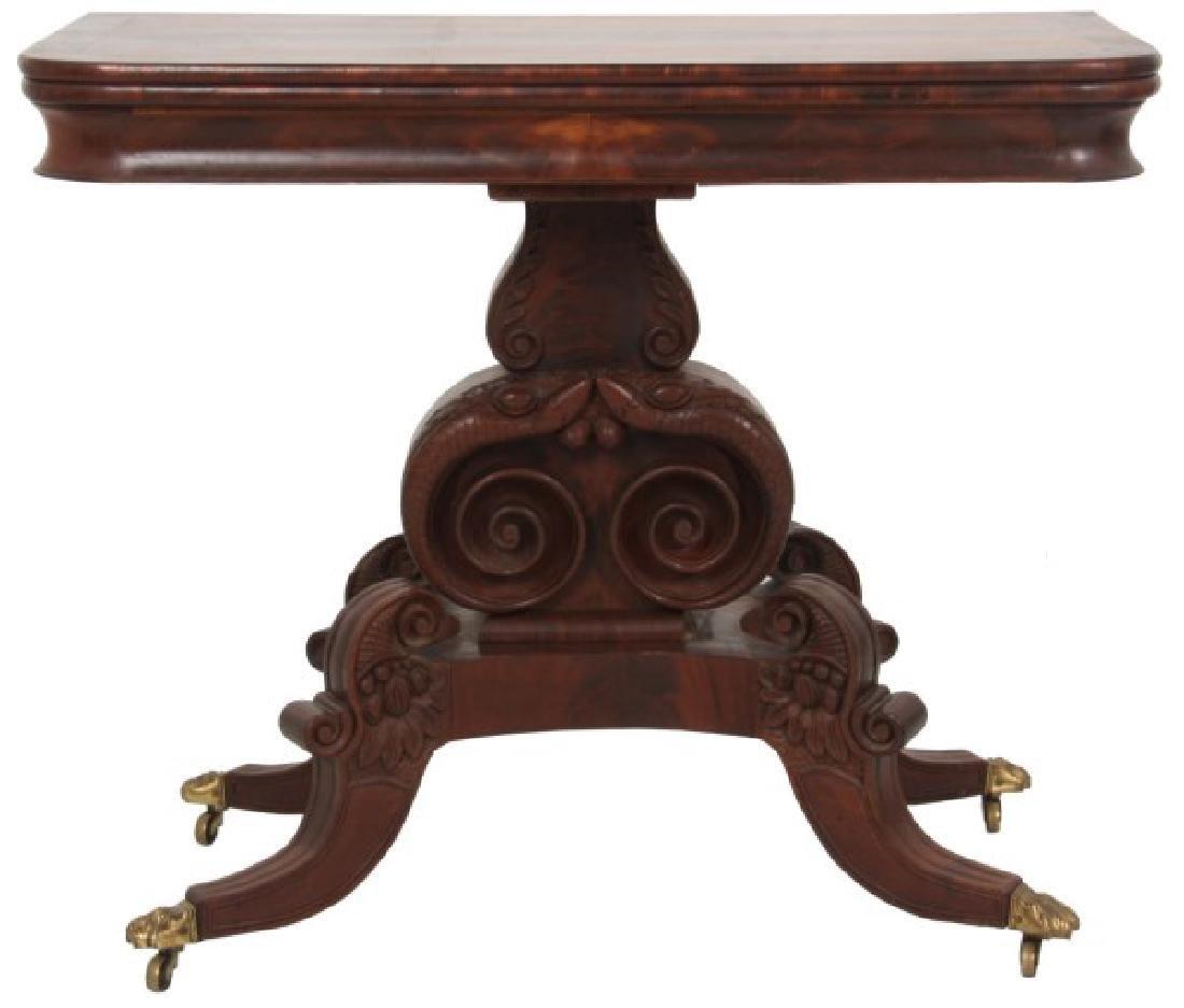 Classical Mahogany Lift Top Card Table