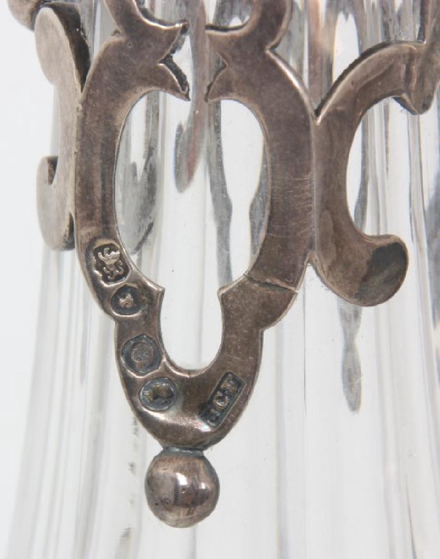 JC Edington Sterling & Cut Glass Claret - 10