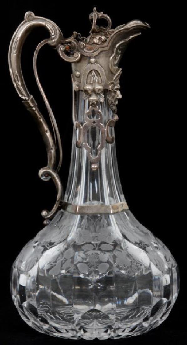 JC Edington Sterling & Cut Glass Claret